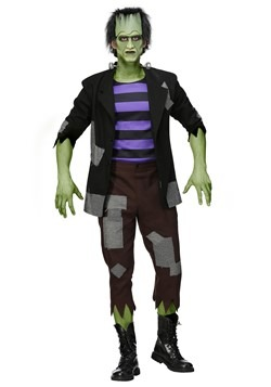 Men's Plus Size Frankenstein's Monster Costume
