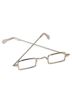 Santa Claus Gold Rim Eyeglasses