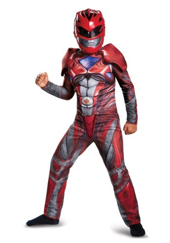 Child Red Ranger Movie Classic Muscle