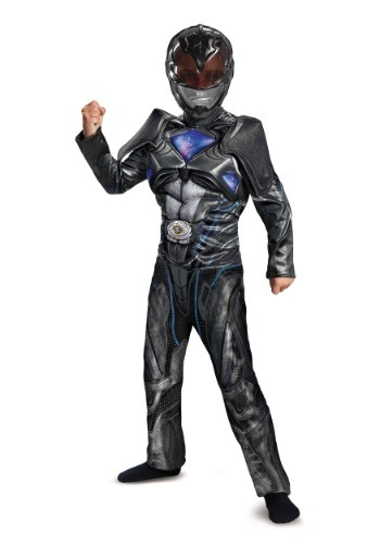 Black Ranger Child Movie Deluxe Costume