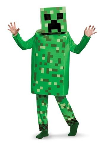 Kids Minecraft Creeper Deluxe Costume