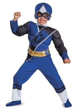 Blue Ranger Ninja Steel Toddler Muscle Costume