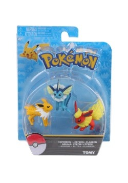Flareon, Jolteon, Vaporeon Figure 3 Pack