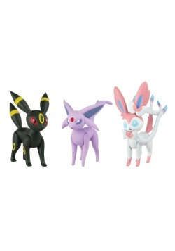 Espeon, Umbreon, Sylveon Figure 3 Pack