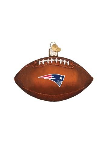 New England Patriots Glass Football Ornament