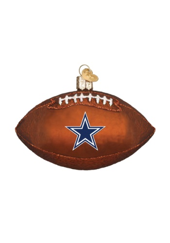 Dallas Cowboys Glass Football Ornament
