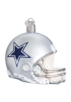 Dallas Cowboys Glass Helmet Ornament