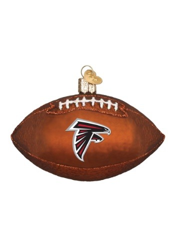 Atlanta Falcons Glass Football Ornament