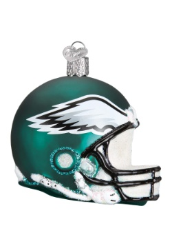 Eagles Helmet Glass Ornament