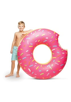 Strawberry Frosted Donut 4ft Pool Float