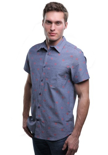 DC Comics Superman Logo Woven Men's Button Down Shirt