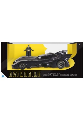 "1989 Batmobile with 3"" Bendable Batman Figure"