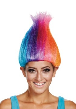 Rainbow Colored Adult Troll Wig