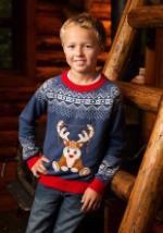 Boy's Reindeer LED Light Up Sweater