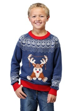 Boy's Reindeer LED Light Up Sweater