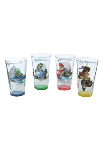 Mario Kart Character Pint Glass 4 Pack