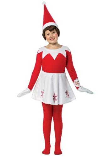 Girl's Elf on the Shelf Costume
