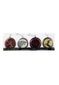 Game of Thrones 4 pc Disc Ornament Set