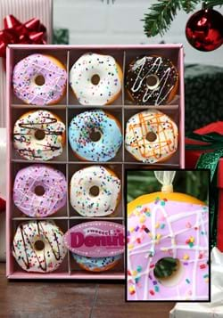 Miniature Donut Ornament Set-12 pc