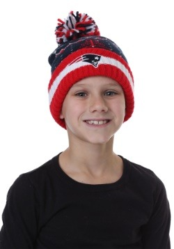 Kids Patriots Cuffed Knit Hat with Pompom