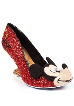 Irregular Choice Disney Oh Boy Glitter Mickey Backless Heels