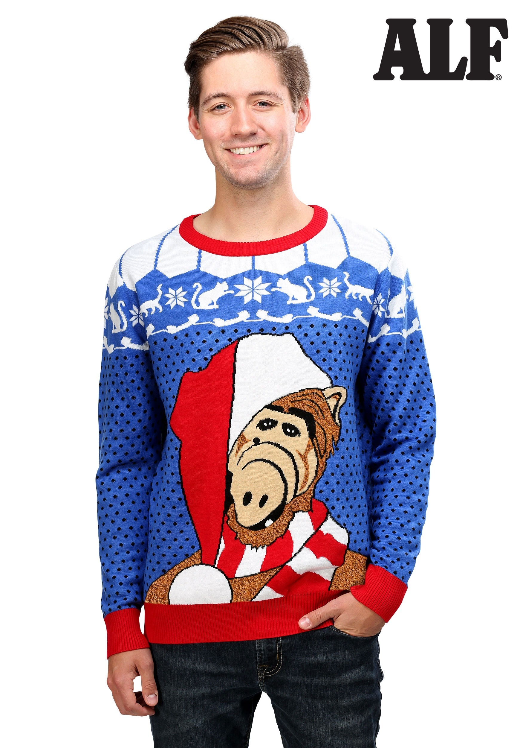 Alf Ugly Christmas Sweater For Adults