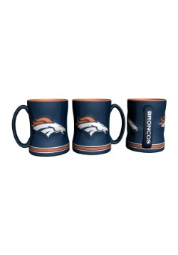 14oz Denver Broncos Sculpted Relief Mug