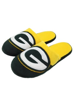 Green Bay Packers Colorblock Slide Slipper
