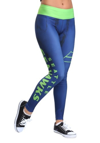 Seattle Seahawks Marble Leggings