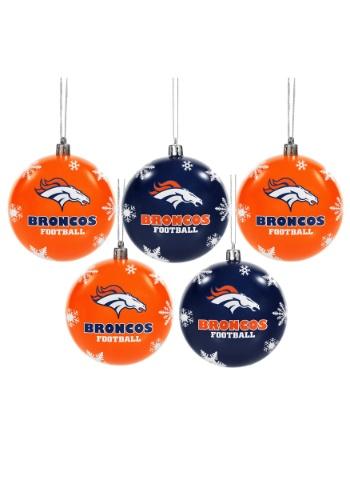 Denver Broncos Ornament Set