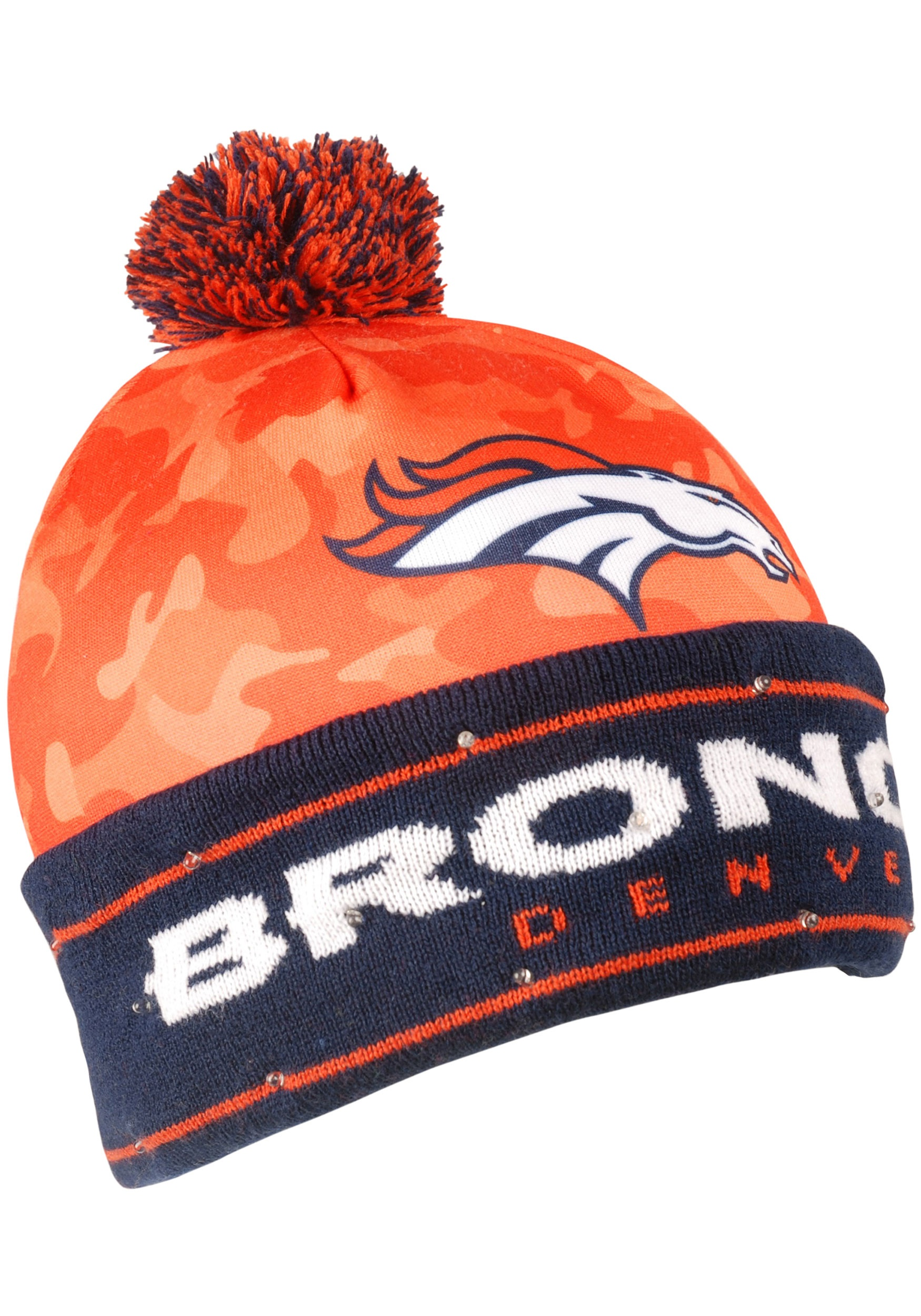 5a0ece970b87e NFL Denver Broncos Camouflage Light Up Stocking Hat