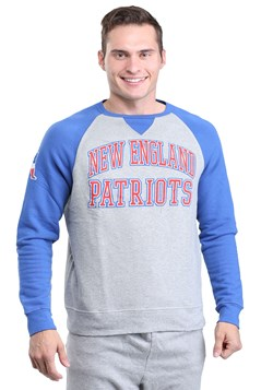 New England Patriots Raglan Formation Fleece Mens
