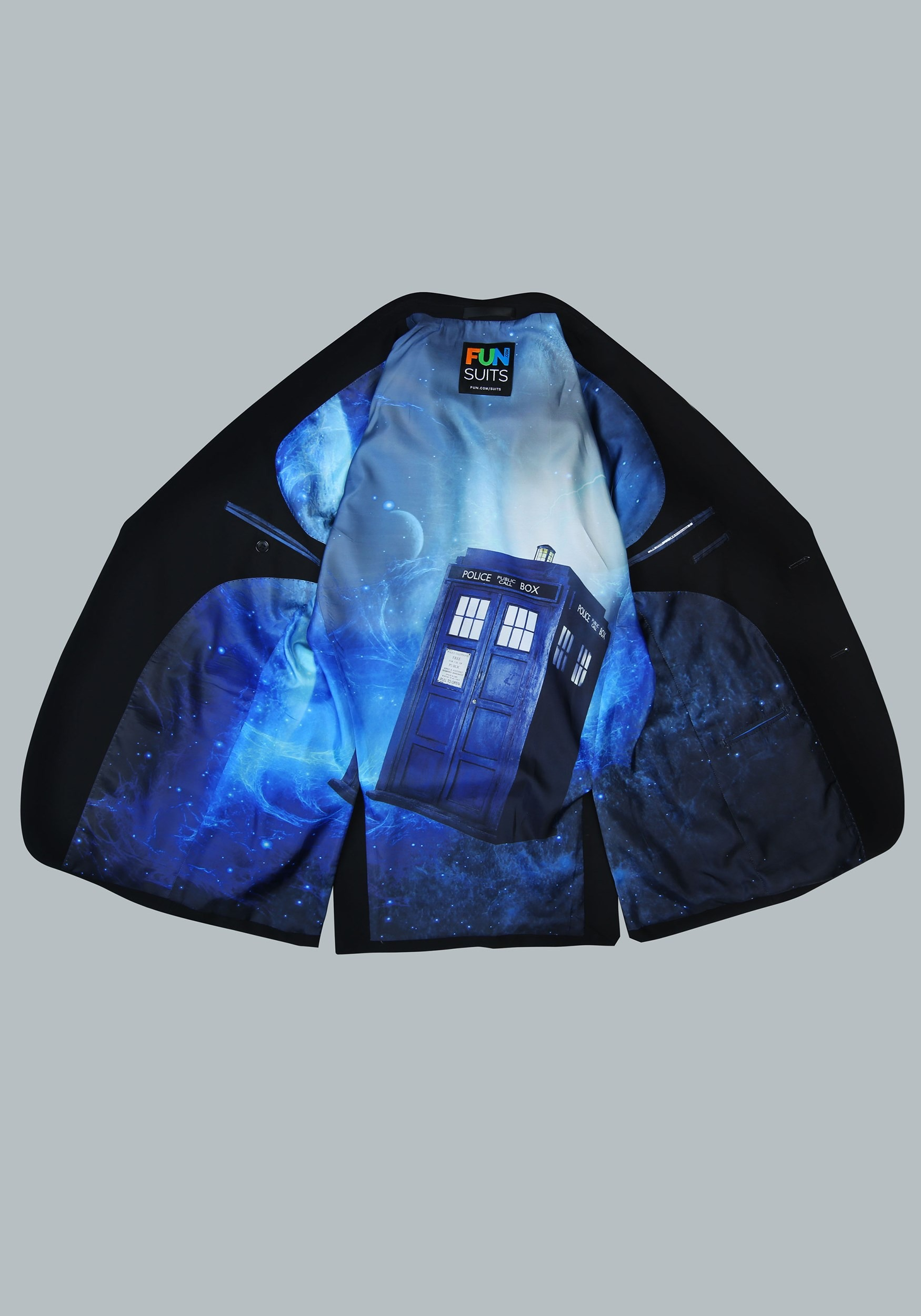 Dr. Who Tardis Pop Interior Suit Jacket