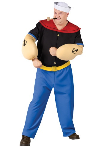 Popeye the Sailor Man Plus Size Mens Costume