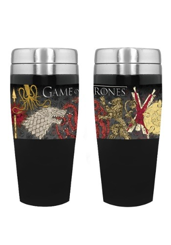 Game of Thrones House Sigils 16 oz Stainless Travel Mug