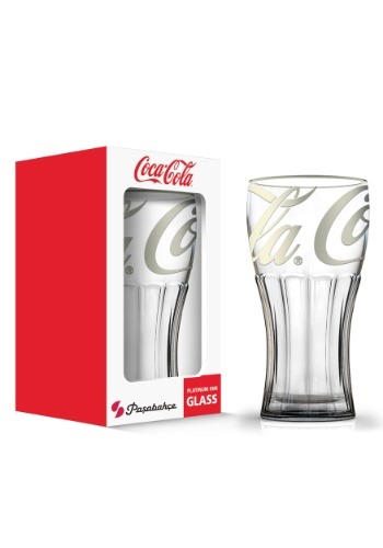 Coca Cola Platinum 12 oz Fountain Glass