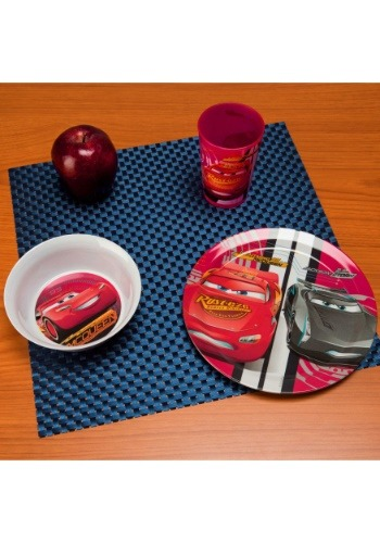 3 Pc Cars Dinnerware Set