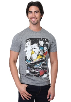 Star Trek Original Series Collage Heather Gray Mens T-Shirt