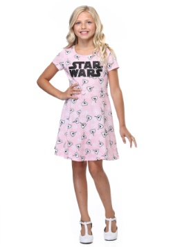 Star Wars BB-8 Girls Pink Dress