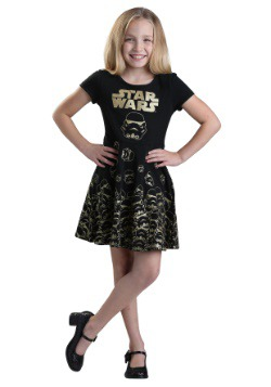 Star Wars Gold Glitter Stormtrooper Girls Dress