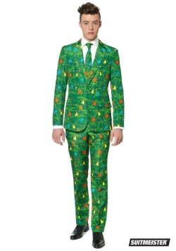 Men's Green Christmas Tree Suitmiester