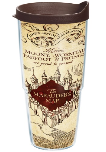 Harry Potter The Maurader's Map 24 oz Tumbler w/ Brown Lid