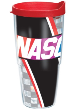 NASCAR Logo 24 oz Tumbler w/ Red Lid