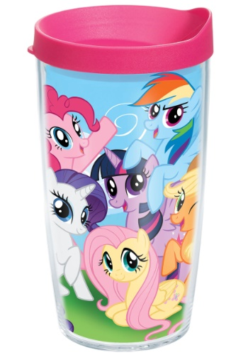 My Little Pony Mane 6 16 oz Tumbler w/ Pink Lid