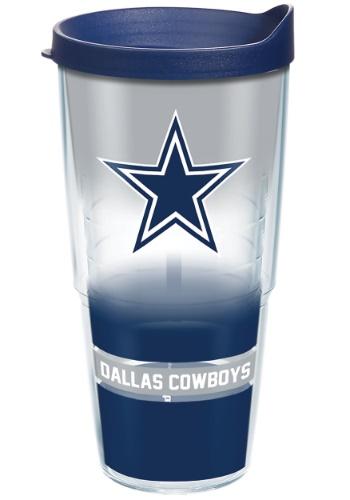 Dallas Cowboys 24 oz Tumbler w/ Blue Lid