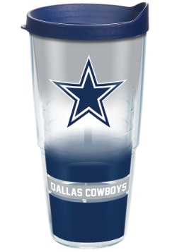 Dallas Cowboys 24 oz Tumbler w/ Blue Lid