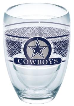 Dallas Cowboys 9 oz Stemless Wine Glass