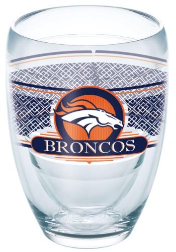 Denver Broncos 9 oz Stemless Wine Glass