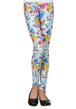 80s Party Girl Child Leggings