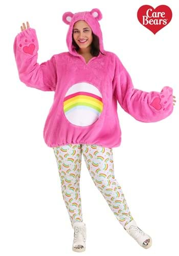 Care Bears Deluxe Plus Size Cheer Bear Hoodie Costume